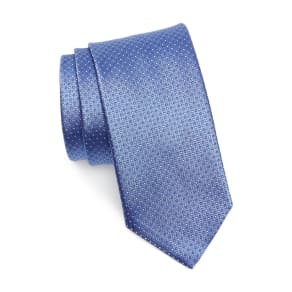 Men's Canali Dot Silk Tie, Size Regular - Blue