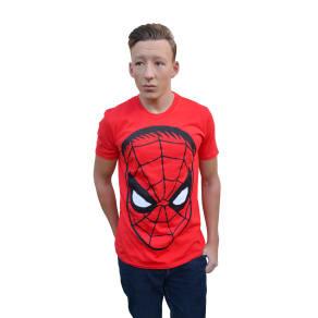 Spider Man Big Head T-Shirt: Red