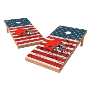 Nfl Cleveland Browns Wild Sports 2x4 Tailgate Toss Cornhole Shield - Stars and Stripes