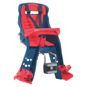 Peg Perego Orion Navy/Red-Front Mounted Bicycle Child Carrier, Blue/Red