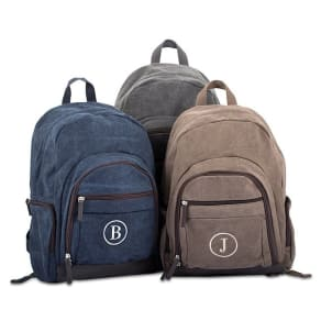 Washed Canvas Backpack, by Things Remembered, in Color Multi, in Material Cotton/Polyester/Pu