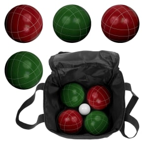 Trademark Games Full Size Premium Bocce Set With Easy Carry Case