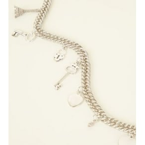 Silver Charm Chain Waist and Hip Belt New Look