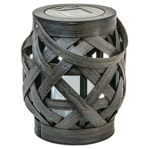 Criss - Cross Weave Led Lantern - Medium - Threshold, Brown
