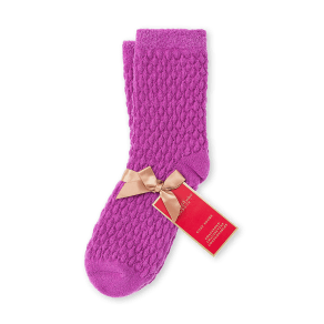 Crabtree & Evelyn Purple Popcorn Cozy Socks