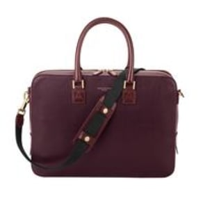 Mount Street Tech Small Burgundy Saffiano