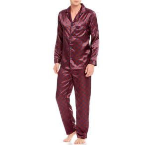 Roundtree & Yorke Printed Charmeuse Pajama Set