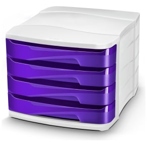 Cep Purple Desktop Storage - Set of 4