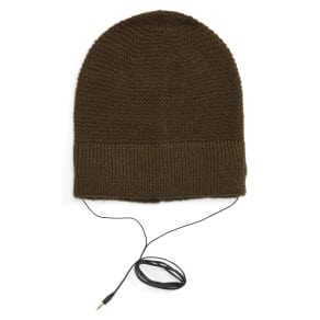 Women's Rebecca Minkoff Slouchy Beanie With Headphones - Green