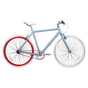 Gama Bikes Speed Cat 3-Speed 700c Urban Hybrid Commuter - Duo, Multi-Colored