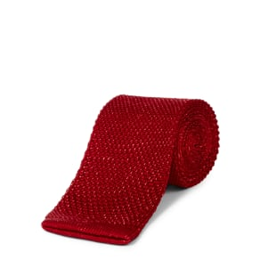 Jaeger Interest Knitted Tie, Red