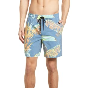 Men's Hurley Paradise Volley Board Shorts, Size X-Large - Blue