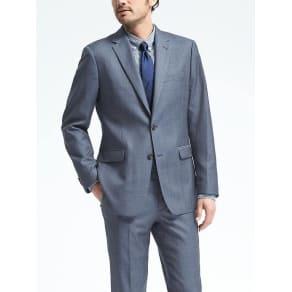 Standard Blue Plaid Wool Suit Jacket Men