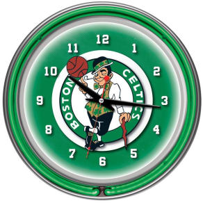 Nba(canonical) Boston Celtics Double Ring Neon Clock