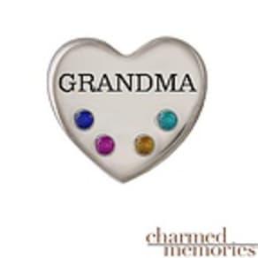 "Charmed Memories ""Grandma"" Charm Sterling Silver"