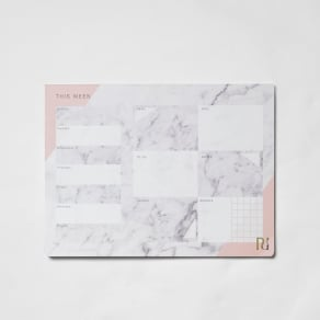 River Island Womens Grey Marble Print A4 Desk Planner Pad