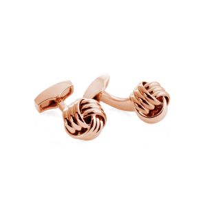 Tateossian Knot Ribbed Cufflinks, Rose