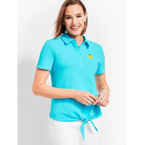 Talbots: Tie Front Polo Shirt