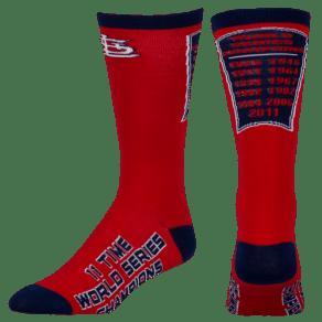 St. Louis Cardinals for Bare Feet Mlb Championship Socks - Mens - Multi