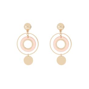 Clean Resin Statement Hoop Earrings