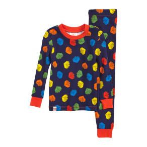 Boy's Lego Fitted Two-Piece Cotton Pajama Set, Size 4y - Blue