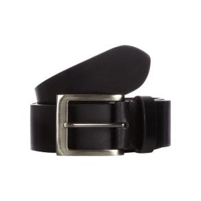 rjr.john Rocha Big and Tall Designer Black Coated Leather Belt
