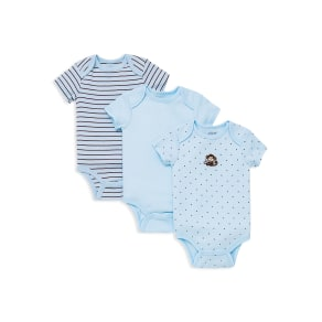 Little Me Boys' Monkey Star Bodysuit, 3 Pack - Baby