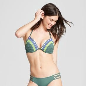 Women's Shore Light Lift Crochet Halter Bikini Top - Shade & Shore Sage Crochet 38d, Brown