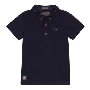 rjr.john Rocha Boys' Navy Spotted Collar Polo Shirt