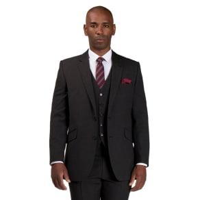 Centaur Big & Tall Grey Semi Plain Jacket