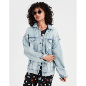 Ae Destroy Denim Boyfriend Jacket