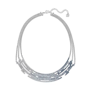 Swarovski Swarovski Fluidity Necklace Light Multi Rhodium-Plated