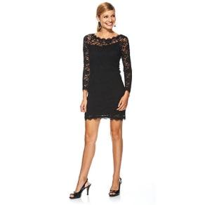 Jump black lace dress