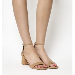 Office Finley Block Heel Sandal Nude Nubuck
