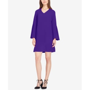 Tahari Asl Bell-Sleeve Trapeze Dress