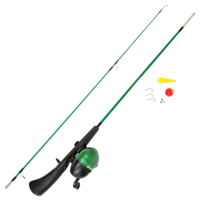 Wakeman Fishing Rod Spincast Combo and Tackle Set - Green Spawn Series