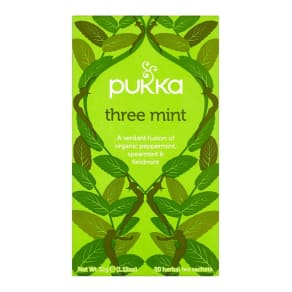 Pukka Organic Three Mint 20 Herbal Tea Sachets 32g