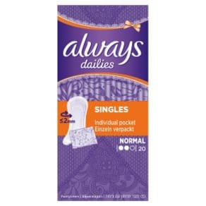 Always Dailies Normal Pantyliners Wrapped