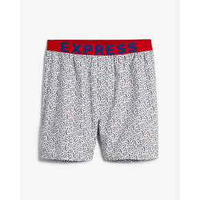 Express Mens Floral Exposed Waistband Woven Boxers