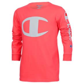 Kids' Champion Heritage Logo Long Sleeve T-Shirt, Red