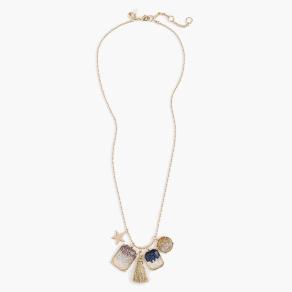 Girls' Glitter Tassel Necklace