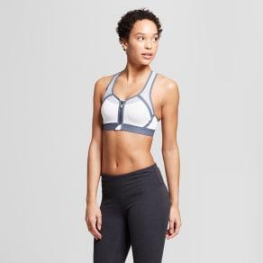 Women's Power Shape Max Support Front-Close Sports Bra - C9 Champion White/Gray 38dd