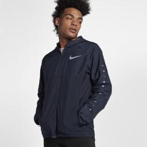 Nike Essential Men's Hooded Running Jacket - Blue