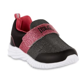Everlasta(r) Toddler Girls' Trendy Pink/Black Athletic Sneaker, Size: 9 - (Toddler)