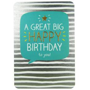 Pigment Great Big Happy Birthday Card