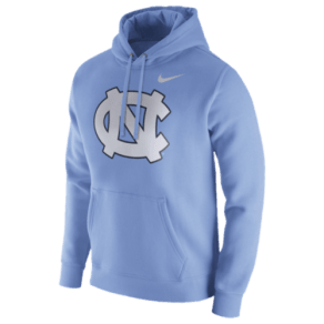 North Carolina Tar Heels Nike College Team Club Hoodie - Mens - Light Blue