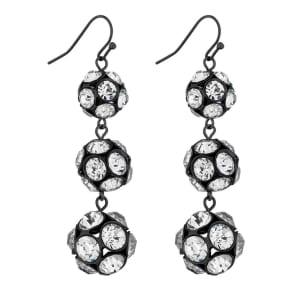 Principles by Ben De Lisi Designer Pave Ball Drop Earrings