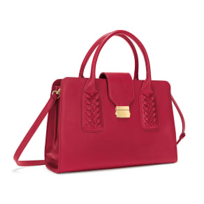 Fashion Braid Red Handbag
