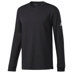 Adidas Cross-Up Long Sleeve T-Shirt - Mens - Black/Black