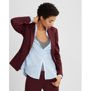 Express Womens Petite One Button Blazer